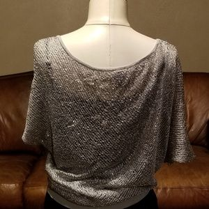 Silver DayTrip Sequin Sweater Size M/L